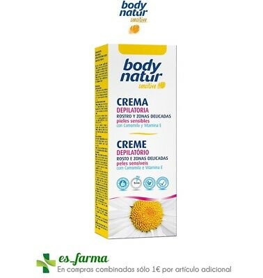 Body Natur Sensitive Crema Depilatoria Rostro Y Zonas Delicadas Camomila 50Ml