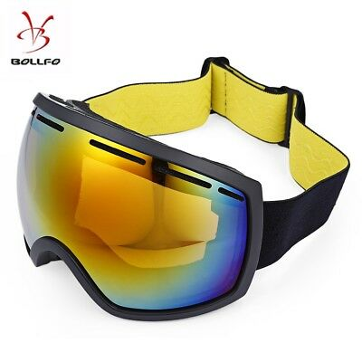 BOLLFO Wide Vision UV Protection Anti-fog Skiing Goggles For Outdoor Sports