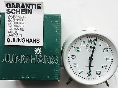 Vintage Junghans Alarm Clock, Mechanical, Made In Germany, New Old Stock