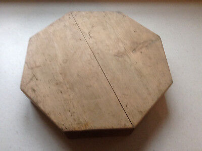 Chunky Wooden Octagonal Display Stand