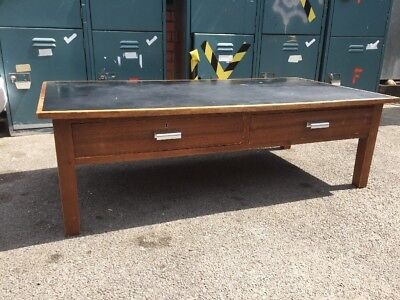 Teak Coffee Table Vintage MidCentury Industrial Console Free Manchester Delivery