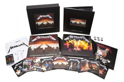 Metallica Master Of Puppets Limited Deluxe Box Set 10 CD 3 LP 2 DVD