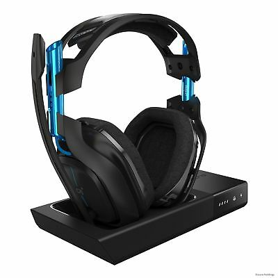 939-001516 Astro A50 Wireless Headset + Base Station - Stereo - Black, Blue -