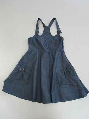 Girls NEW LOOK GENERATION Dungaree Skater Adjustable Dress Boho Denim Cotton age