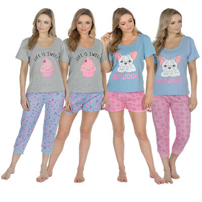 Womens Forever Dreaming Cotton Rich Pyjama Sets Fun Photo Prints