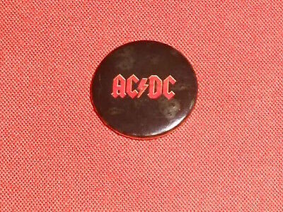 AC/DC Button Pin 1983 Original Vintage Promo 1.25""