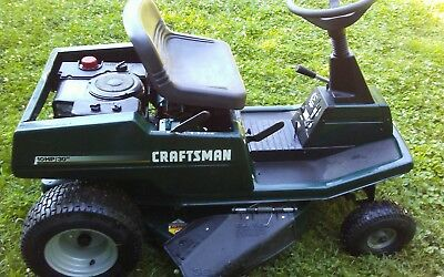 CRAFTSMAN REAR ENGINE riding mower 10hp 30 inch cut five speed w/reverse