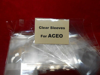 Clear Bags for ACEO Art/Photos (100) Bags for ACEOs Resealable Protective Bags