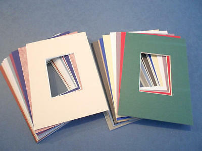 ACEO Photo Mats 5x7 with ACEO window Lot of 18 Assorted Color Mats