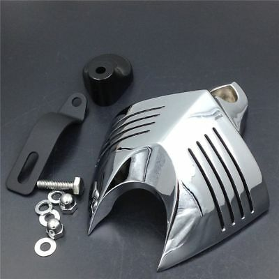 Motorcycle Silver Horn Cover For Harley Dyna Street Bob V-Rods Cowbell 1992-13