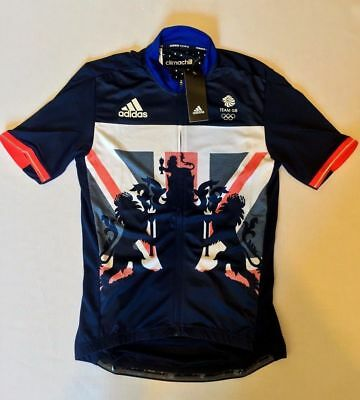 Adidas Team Gb Cycling Jersey Olympic Rio 2016 Great Britain Mens Size Xs