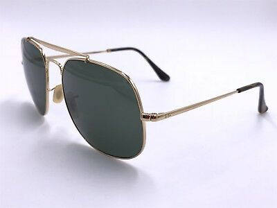 03209e7377 Ray Ban Sunglasses RB3561 001 GENERAL Green Classic G-15  Gold AUTHENTIC  ITALY