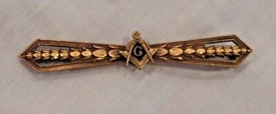 Antique Gold Filled Masonic Lapel Pin or Brooch
