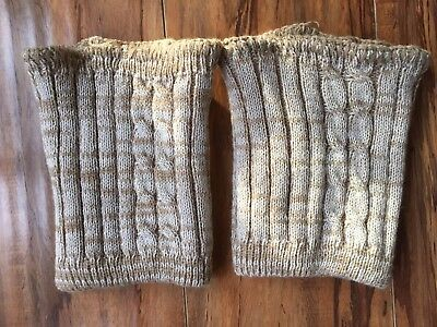 Steve Madden Beige Tan Sweater Boot Cuffs One Size Stretchy NWOT