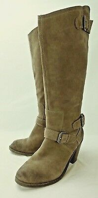 6be33c2f1281 Dolce Vita Wos Boots Knee High US8.5 Taupe Suede Zip Buckle Urban  Outfitters 798