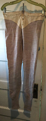 "Vintage Antique Wool Longjohns Long Underwear 40""  Men's Goode Ltd Size 3 1917"
