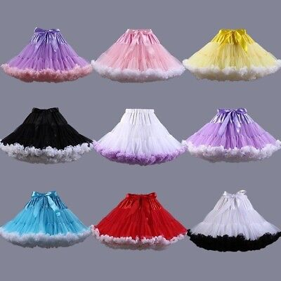 TUTU Skirt Petticoat Chemise Cosplay Pettiskirt Crinoline Fluffy Dance Skirt Red