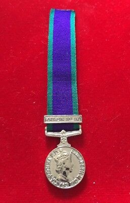 "Miniature General Service Medal Northern Ireland Miniature GSM NI With 6"" Ribbon"