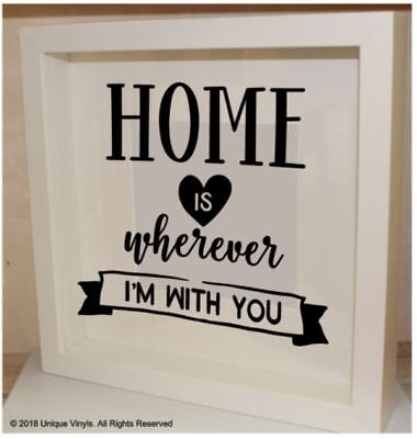 Home is wherever I'm with You - vinyl sticker for IKEA RIBBA BOX FRAME  - gift