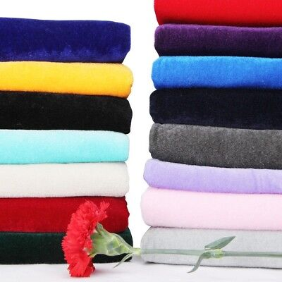 Velvet Cloth for Curtain DIY Materials Upholstery Crafts Clothes Solid By Meter