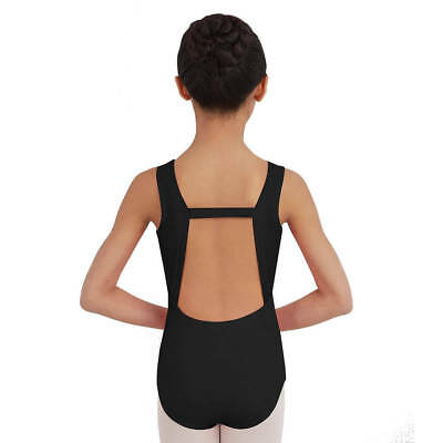 NWT Capezio TB202C Black Tank Leotard Girls Sizes