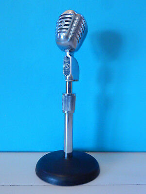 Vintage 1940S Packard Bell PhonoCord Microphone & Atlas Stand Antique Old Shure