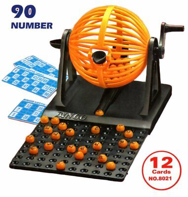 New Bingo Lotto Lottory Traditional Family Game Set 90 Balls 12 Cards