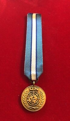 """Miniature  UN CYPRUS UNFICYP Medal With 6"""" Ribbon"""