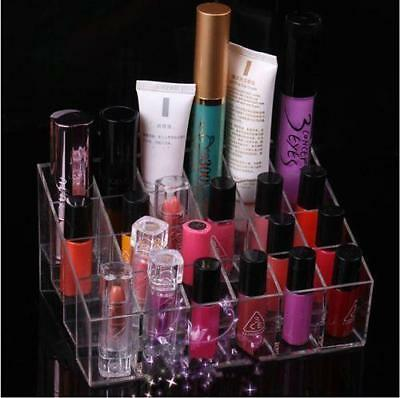 Clear Acrylic Nail Polish Stand Display Rack Holder Makeup Organizer N7