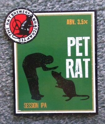 Beer pump badge clip RAT brewery PET RAT cask ale pumpclip front Yorkshire