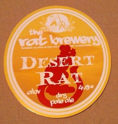 Beer pump badge clip RAT brewery DESERT RAT cask ale pumpclip front YORKSHIRE