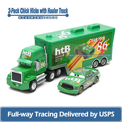 Disney Pixar Cars Chick Hicks & NO.86 Mack Truck 1:55 Diecast Toy Car Loose New