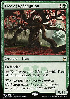 1x TREE OF REDEMPTION - Rare - M25 -  MTG - NM - Magic the Gathering