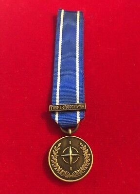 Miniature Nato Bosnia Former Yugoslavia Medal Brand New. Fast Dispatch