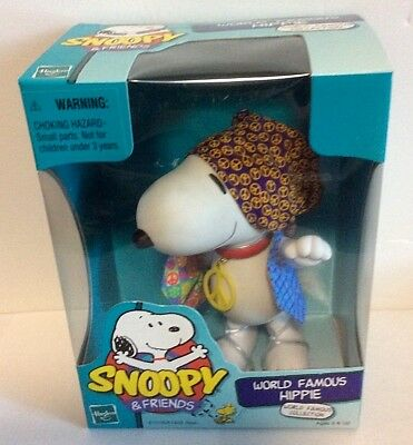 Vintage Hasbro SNOOPY & Friends WORLD FAMOUS HIPPIE 70s Figural Peanuts 1999 NOS