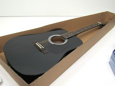 Squier by Fender SA-150 Dreadnought Acoustic Guitar - Gloss Black Finish