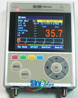 Dr.HD 1000 Combo S/S2/T/T2 satfinder with Realtime Spectrum Analyzer