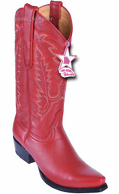 L940577 LOS ALTOS NATURAL WOMEN SNIP TOE OSTRICH LEG WESTERN COWBOY BOOT M