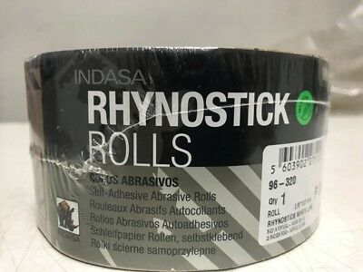 INDASA Rhynostick White Line P 320 Grit Auto Body Heavy Duty Sanding 1 Roll