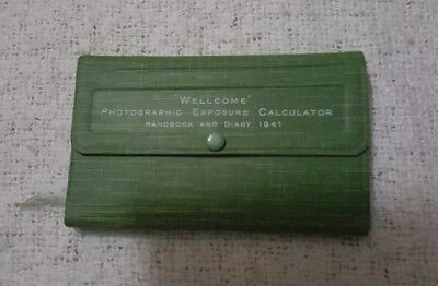 Vintage Wellcome Photographic Exposure Calculator Handbook And Diary 1941