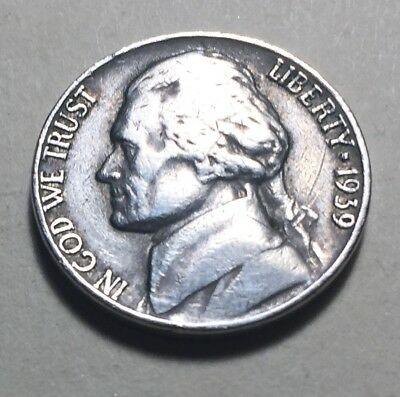 United States 1939 Jefferson Five Cents (Nickel) Coin