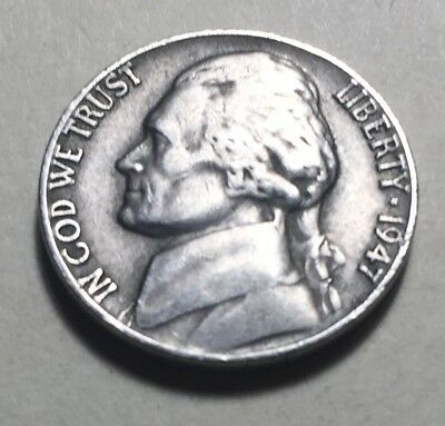 United States 1947 Jefferson Five Cents (Nickel) Coin