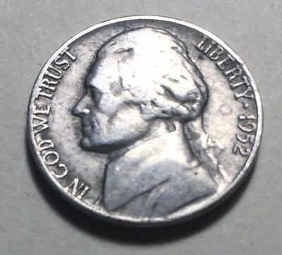 United States 1952 Jefferson Five Cents (Nickel) Coin
