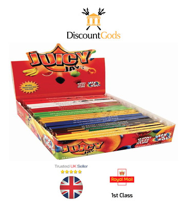 24 Juicy Jay King Size Mix N Roll Slim Papers Rizla 1st Class Postage 8 Flavours