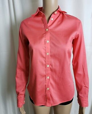 5a96d2ff Womens Banana Republic Fitted Non Iron Button Down Shirt Blouse Pink Size 2
