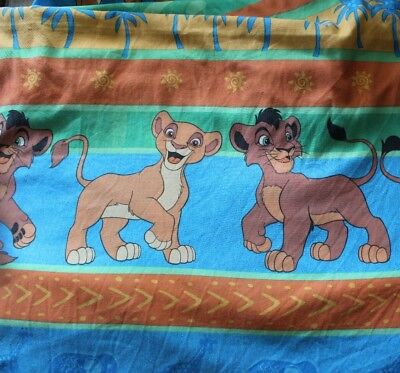 Lion King 2 Simba's Pride Kovu Kiara Twin Sheet Set Flat Fitted Fabric