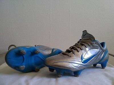 huge selection of 433ad e63fc Nike Mercurial Vapor R9 ii chrome silver blue SG US size 10