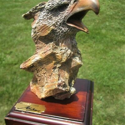 Flying Spirit Limited Edition Eagle Head Sculpture Created Marka Gallery Signed