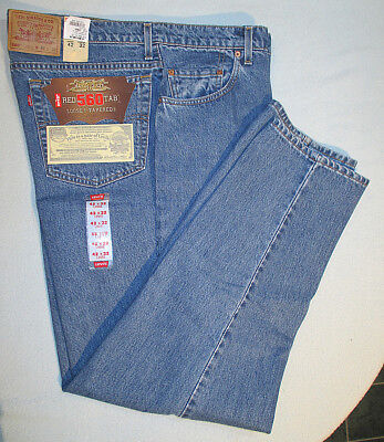 Vintage Levi's Red Tab 560 Loose Fit Tapered Leg Jeans 42 x 32 New With Tags