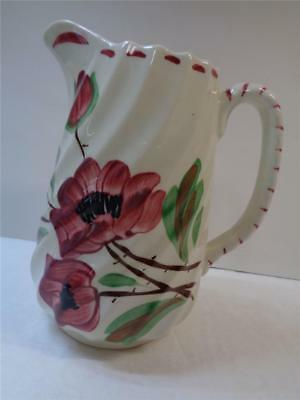 Blue Ridge China Southern Potteries Tralee Red Rose Pitcher Spiral Jug #1 1950s